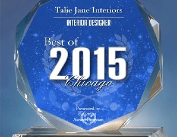 2015 Best of Chicago Award Interior Design, Lake Tahoe Interior Design