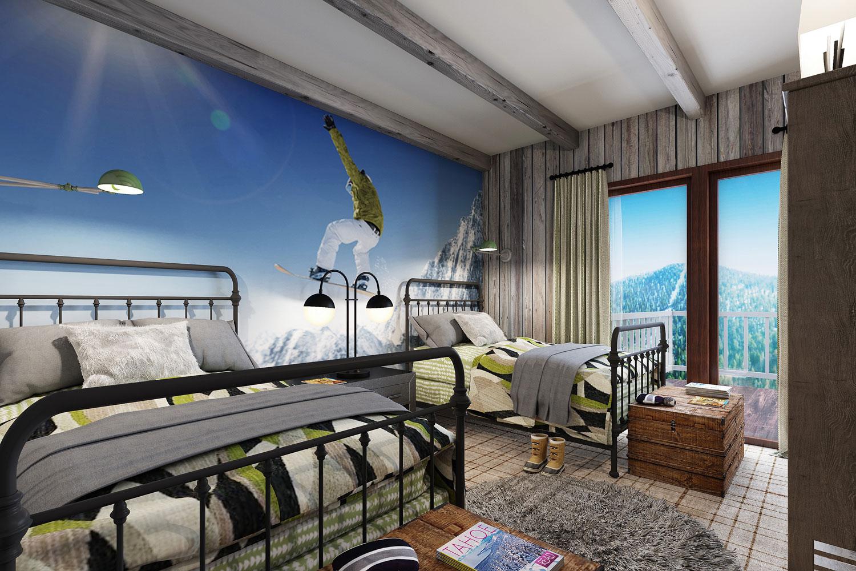 Ski Resort Bedroom by Talie Jane Interiors