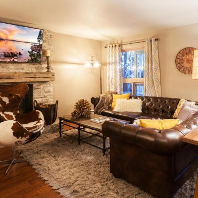 Tahoe Mountain Retreat Living Room by Talie Jane Interiors