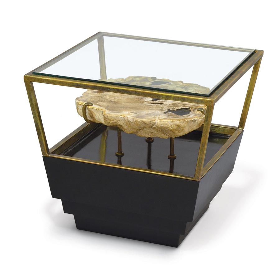 Apollo Petrified Wood Side Table