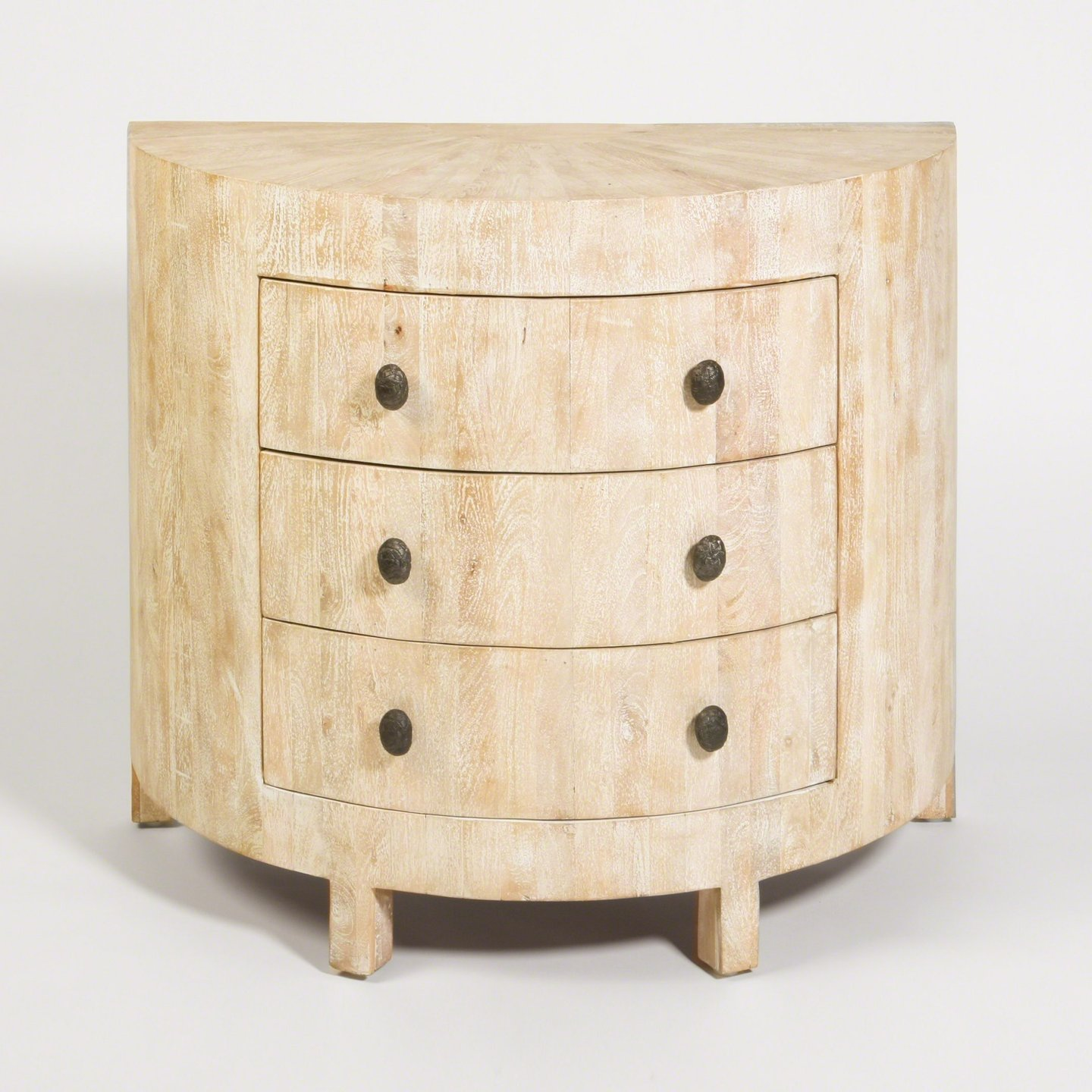 """Driftwood Demi Lune Chest (2 Available) - 40""""W x 36""""H x 20""""D $1,200 each (plus shipping and tax)"""