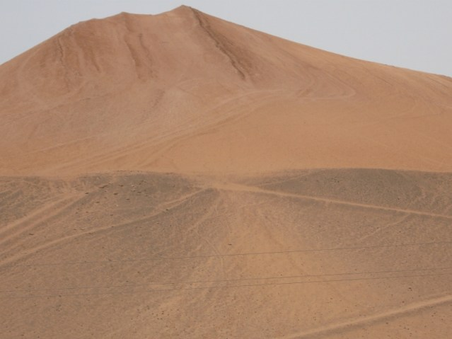 The Taklamakan (also spelled Taklimakan) Desert.