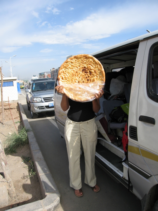 The bread-head girl...