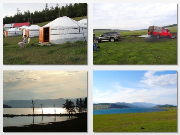 arriving at Husgol lake mongolia