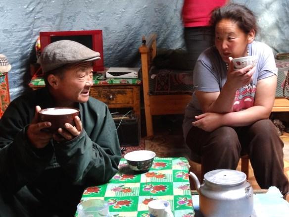 Mongolia nomad family