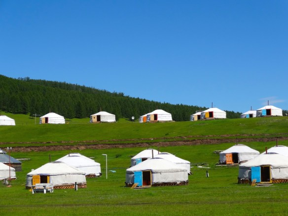 tourists ger camp mongolia1