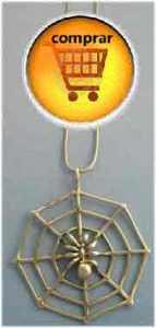 colgante araña de plata