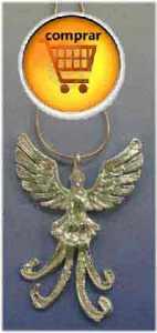 Phoenix de plata amuleto