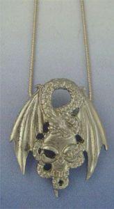 silver pendant dragon