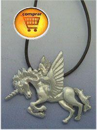alicorn silver pendant
