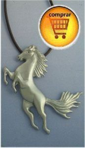horse pendant silver