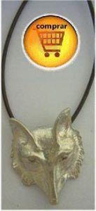 wolf head silver pendant