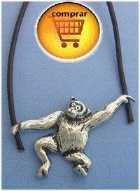 chimpancé silver pendant