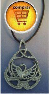 swam celtic amulet pendant silver
