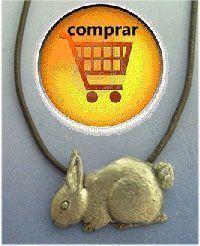 rabbit silver pendant