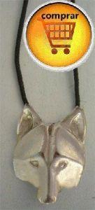 coyote silver pendant