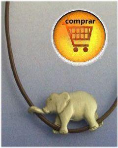 elephant silver pendant