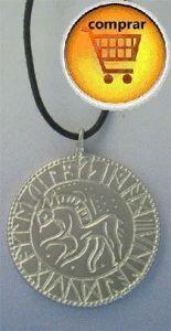 viking amulet of Epona. silver pendant