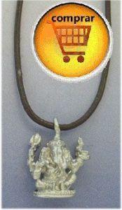 Ganesha elephant silver pendant