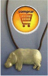 hippo silver pendant