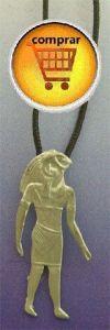 Horus falcon silver pendant