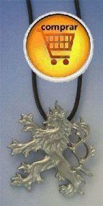 bohemian lion silver pendant