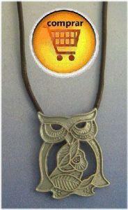 owl totem amulet silver