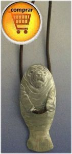 manati silver pendant