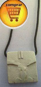 monkey mayan kin silver pendant