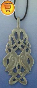 crane knot celtic silver pendant