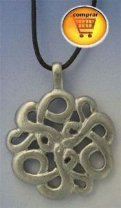 celtic knot snakes silver pendant