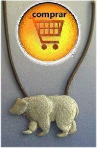bear silver pendant