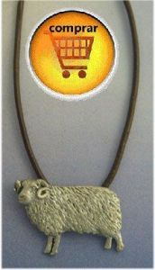 sheep silver pendant