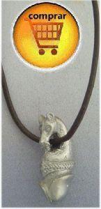 penis horse silver pendant