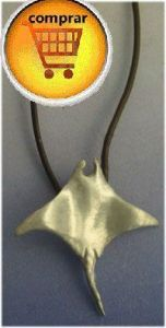 stingray fish silver pendant