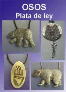 Osos amuletos de plata