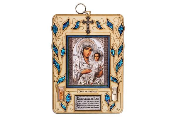Оберег для дома с иконой Иерусалимской Божьей Матери