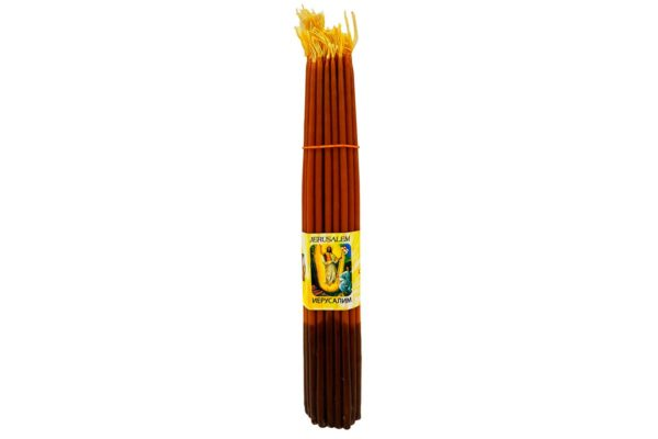 33 Иерусалимские свечи коричневые