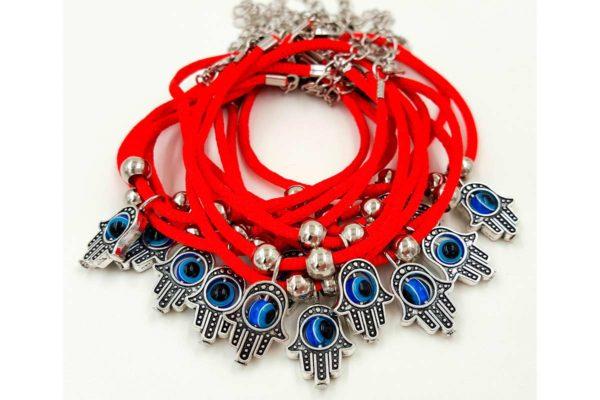 12 шт. браслет Красная нить с хамсой от сглаза