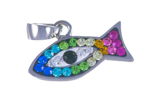 Серебряная подвеска Рыбка-амулет против сглаза