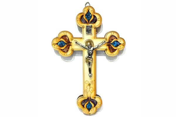 Крест деревянный настенный с распятием