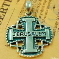Иерусалимский Крест Паломника Серебро с Сертификатом
