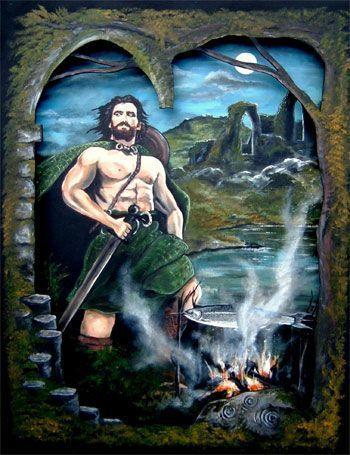 el salmón celta y Fionn el héroe