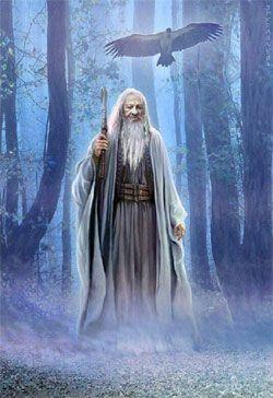 Merlín mago y druida celta