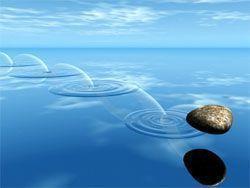 magia piedra estanque