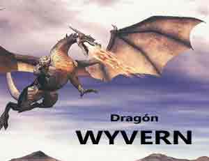 dragón Wyvern heráldico