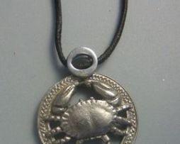 colgante horóscopo cáncer amuleto astrológico zodiacal de plata