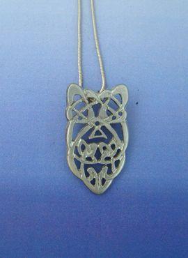 colgante del amuleto nudo celta piedra de Blarney de plata de ley