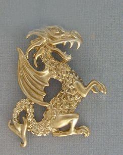 colgante dragón de Gales Rey Uther de oro