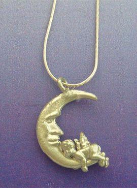colgante ángel lunar el angelito duerme sobre la luna